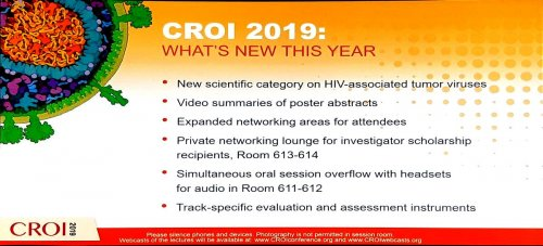 CROI 2019 new this year