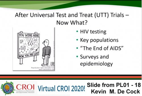 CROI 2020 what after universal test and treat