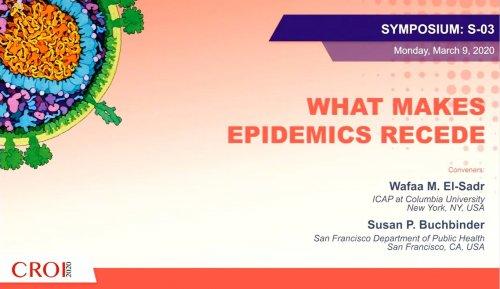 CROI 2020 what makes epidemics recede