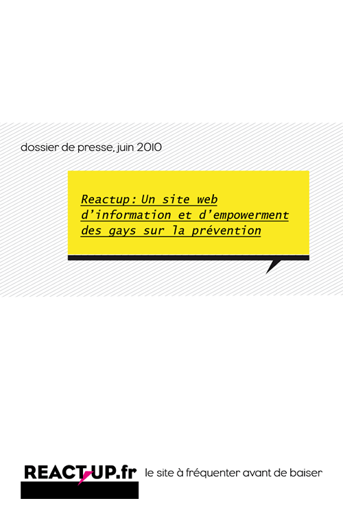 dossier de presse REACTUP 2010 visu