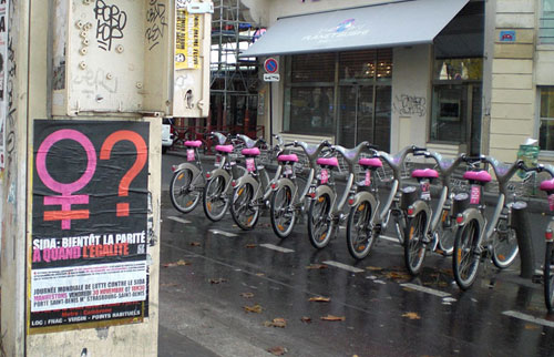 velib campagne Act Up Paris