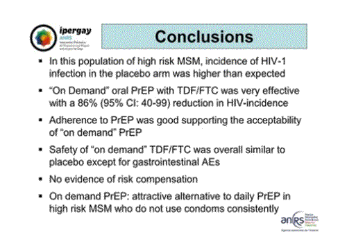 CROI2015 Ipergay ANRS conclusions