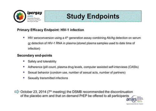 CROI2015 Ipergay ANRS study endpoints